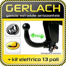 Fiat Punto II 1999-2011 gancio traino estraibile + kit elettrico 13 poli
