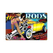Muscle car hot rod rods CHOISE pin up bd rétro sign tôle bouclier bouclier grand