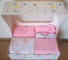 8-10lbs Newborn Baby Girls Vest Cardigan Hat Bib Gift Pink Bunny New Baby Shower