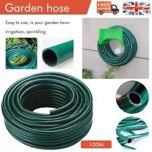 20 - 100M Heavy Duty Garden Hose Pipe Reinforced Braided Watering Hosepipe Reel