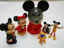 Walt Disney Toys 1968 Mickey Mouse Gumball Machine Banks Figures Minnie Pluto