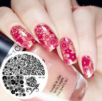 Nail Art Stamping Plate Various Flowers Image Stamp Template Born Pretty