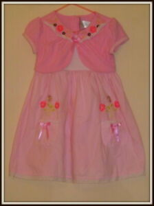 Youngland, Toddlers pink dress with attached bolero, size 4T