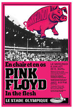 Pink Floyd at  the Montreal Olympic Stadium Concert Poster 1977