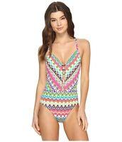 Bleu Rod Beattie Women's in Living Color Plunge Sz. 12 One-Piece Swimwear 149105