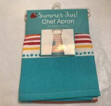 Kay Dee Designs Summer Fun! Cotton Chef Apron with Pocket Blue Printed Flower
