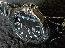 NOS SEIKO MEN'S TITANIUM SMA163 AUTO RELAY, CARBON FIBER DIAL, WATCH 5J22-0D80