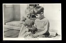 r4305 - Trh. Prince Charles & Princess Anne playing together - postcard
