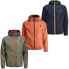 Jack and Jones Para hombre chaquetas con cremallera impermeable Informal Con capucha abrigo outwear coats