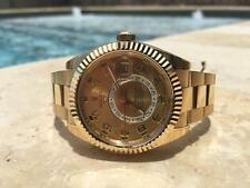 Rolex Sky Dweller 326938 18k Yellow Gold Champagne Sunray Dial 42mm Watch
