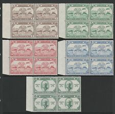 Jordan 1949 UPU set in blocks of four SG 285-289 Mnh.