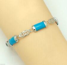 Markenlose Echtschmuck-Armbänder aus Sterlingsilber mit Türkis-Perlen