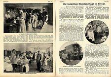 Die freiwillige Krankenpflege im Kriege * Belgien * Bildbericht v. 1915