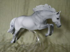 Breyer Horse Statue OOAK CM/Custom Jumping Pony Faded Dapple Gray