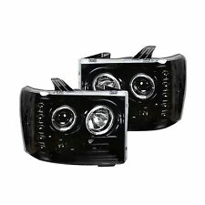 RECON 264271BKCC GMC Sierra 07-13 Clear-Smoked Headlights Projector
