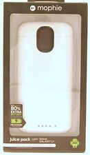 Mophie Juice Pack Case and Rechargeable Battery in White for Samsung Galaxy S4