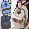 Retro Women Girls Backpack Canvas Rucksack College Leisure Rucksack Hiking Bags