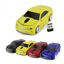 Chevrolet Camaro car Wireless mouse 2.4Ghz USB Optical Laptop PC Gaming Mice LED