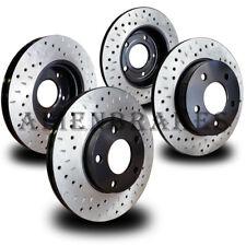 MIT013S LANCER EVO AWD 2003-2006 Brake Rotors Set Cross Drill & Dimple Slots