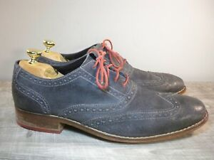Mens Cole Haan C09579 Air Colton Casual Gray Leather Wingtip Dress Shoes Size 11