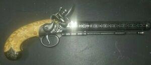 Antique Vintage Flintlock Pistol  Collection Piece