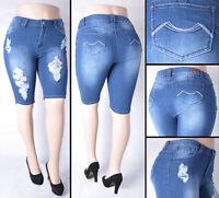 Style#15869AX NWT Dk.Indigo Stretch Denim Skinny Jeans PLUS size 14 to 22