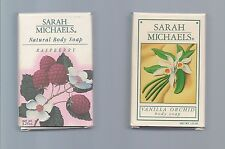 2 Bars Vintage Sarah Michaels Soap Raspberry and Vanilla Orchid 3.25oz each