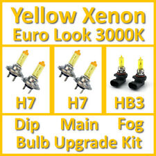 Warm White 3000K Yellow Xenon Headlight Bulb Set Main Dip Fog H7 H7 HB3 Kit