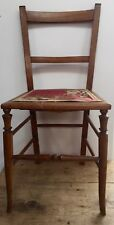 18-19th c Small Country Occasional Chair - Fabric