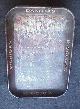 Vintage 1900's Soo Line Railroad Litho Serving Tray Map Montana Success Wi Mi Mn