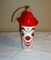 TASTEE-FREEZ Ice Cream • SHAKER CLOWN CUP c.1950's • circus dairy queen