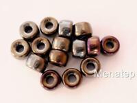 25 5 x 9 mm Czech Glass Crow Beads: Iris -  Brown
