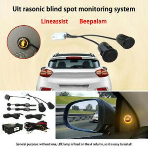 Car Blind Spot Monitoring System Ultrasonic Sensor Distance Assist Lane Changing