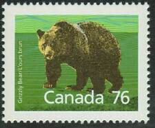 Canada sc#1178i Wildlife - Mammals : Grizzly Bear, Slater paper, Mint-Nh