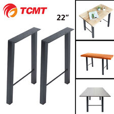 22'' TCMT Hairpin Rod Table Desk Chair Steel Legs Furniture Industrial Set of 2