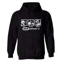 Eat Sleep Game Repeat Mens Printed T Shirt Hoodie Gamer Gift Game Funny Top Tees