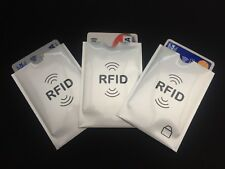 3x RFID Blocking Sleeve - Credit Card - Bank Card Protector for Wallets UK