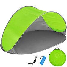 Tente abri de plage auvent pop up automatique camping jaune protection UV + sac
