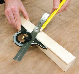 Adjustable Combination Square 300mm Measure Metric Imperial Measuring Builder