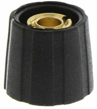 Sifam Potentiometer Knob, Collet Type, 15.5mm Knob Diameter, Black, 6.35mm Shaft