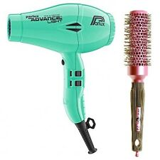 Parlux Advance Light Ionic and Ceramic Hair Dryer - Mint Green + Free Brush