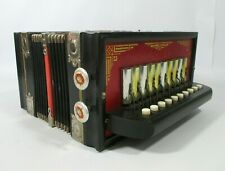 More details for vintage harola accordion made in germany 10 button accordion musical instrument