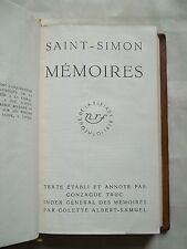 """""""MEMOIRES - TOME VII"""" SAINT-SIMON (1961) PLEIADE"""