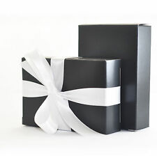"""The Finest Quality & Pre-Glued"" 50 x BLACK Wedding Cake Box Favour Gift"