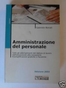 BONATI AMMINISTRAZIONE PERSONALE IL SOLE 24 ORE 2002