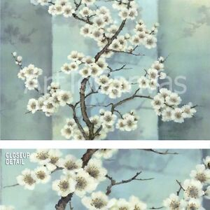 """36W""""x24H"""" TRANSLUCENT BLOSSOMS by T.C. CHIU - SPRING TREE BRANCH FLOWER CANVAS"""