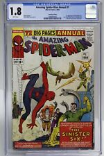 AMAZING SPIDER-MAN ANNUAL # 1  - CGC 1.8 - 1st app of the SINISTER SIX - CVP
