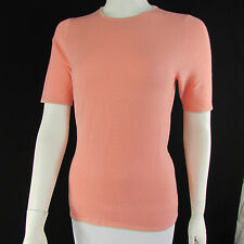 Escada Women Peach Pink Dreamy Cashmere Knit Sweater Top Bow Belt 38 / US 4