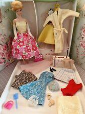Vintage Barbie Fashion Queen Doll & Case Clothes Lot