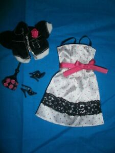 Mattel My Scene Pink & White Sundress with Jacket, Shoes & Purse